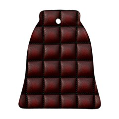Red Cell Leather Retro Car Seat Textures Bell Ornament (two Sides)