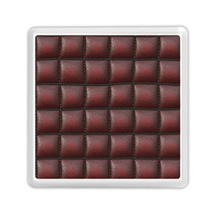 Red Cell Leather Retro Car Seat Textures Memory Card Reader (Square)