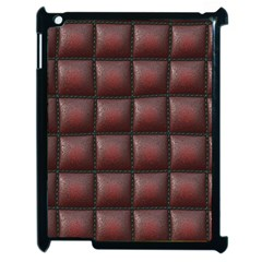 Red Cell Leather Retro Car Seat Textures Apple iPad 2 Case (Black)