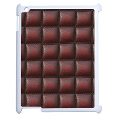 Red Cell Leather Retro Car Seat Textures Apple iPad 2 Case (White)