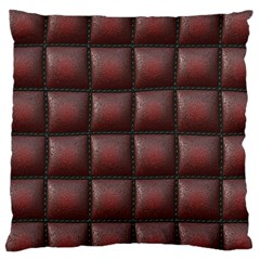 Red Cell Leather Retro Car Seat Textures Large Cushion Case (two Sides)