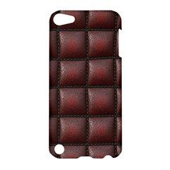 Red Cell Leather Retro Car Seat Textures Apple iPod Touch 5 Hardshell Case
