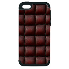 Red Cell Leather Retro Car Seat Textures Apple iPhone 5 Hardshell Case (PC+Silicone)