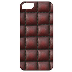 Red Cell Leather Retro Car Seat Textures Apple iPhone 5 Classic Hardshell Case