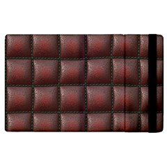 Red Cell Leather Retro Car Seat Textures Apple iPad 2 Flip Case