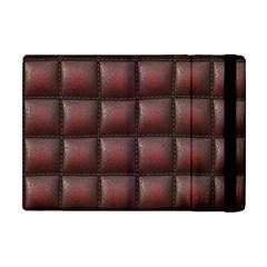Red Cell Leather Retro Car Seat Textures Apple Ipad Mini Flip Case