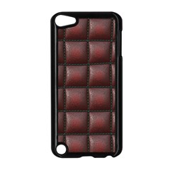 Red Cell Leather Retro Car Seat Textures Apple iPod Touch 5 Case (Black)