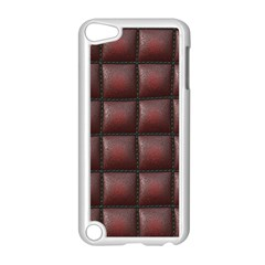 Red Cell Leather Retro Car Seat Textures Apple Ipod Touch 5 Case (white)