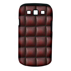 Red Cell Leather Retro Car Seat Textures Samsung Galaxy S Iii Classic Hardshell Case (pc+silicone)