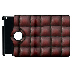 Red Cell Leather Retro Car Seat Textures Apple iPad 2 Flip 360 Case