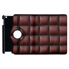 Red Cell Leather Retro Car Seat Textures Apple iPad 3/4 Flip 360 Case
