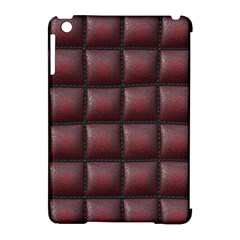 Red Cell Leather Retro Car Seat Textures Apple Ipad Mini Hardshell Case (compatible With Smart Cover)