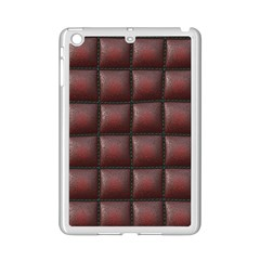 Red Cell Leather Retro Car Seat Textures iPad Mini 2 Enamel Coated Cases