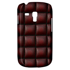 Red Cell Leather Retro Car Seat Textures Galaxy S3 Mini