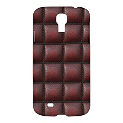 Red Cell Leather Retro Car Seat Textures Samsung Galaxy S4 I9500/i9505 Hardshell Case