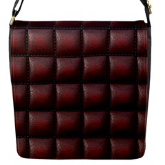 Red Cell Leather Retro Car Seat Textures Flap Messenger Bag (s)