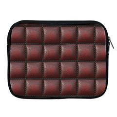 Red Cell Leather Retro Car Seat Textures Apple Ipad 2/3/4 Zipper Cases