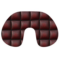 Red Cell Leather Retro Car Seat Textures Travel Neck Pillows