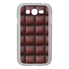 Red Cell Leather Retro Car Seat Textures Samsung Galaxy Grand Duos I9082 Case (white)