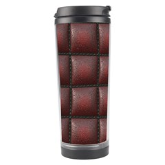 Red Cell Leather Retro Car Seat Textures Travel Tumbler