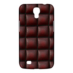 Red Cell Leather Retro Car Seat Textures Samsung Galaxy Mega 6.3  I9200 Hardshell Case
