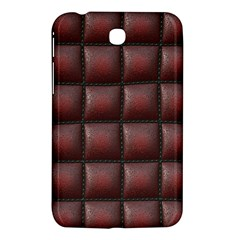 Red Cell Leather Retro Car Seat Textures Samsung Galaxy Tab 3 (7 ) P3200 Hardshell Case