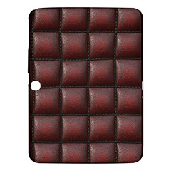 Red Cell Leather Retro Car Seat Textures Samsung Galaxy Tab 3 (10 1 ) P5200 Hardshell Case