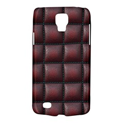 Red Cell Leather Retro Car Seat Textures Galaxy S4 Active