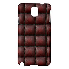 Red Cell Leather Retro Car Seat Textures Samsung Galaxy Note 3 N9005 Hardshell Case