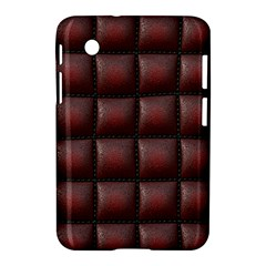 Red Cell Leather Retro Car Seat Textures Samsung Galaxy Tab 2 (7 ) P3100 Hardshell Case