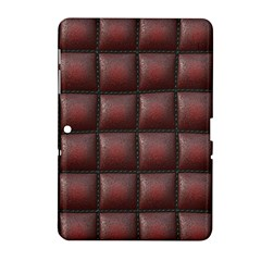 Red Cell Leather Retro Car Seat Textures Samsung Galaxy Tab 2 (10.1 ) P5100 Hardshell Case