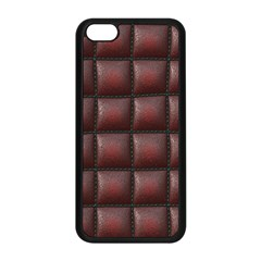 Red Cell Leather Retro Car Seat Textures Apple iPhone 5C Seamless Case (Black)