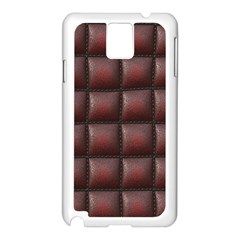 Red Cell Leather Retro Car Seat Textures Samsung Galaxy Note 3 N9005 Case (White)