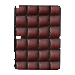 Red Cell Leather Retro Car Seat Textures Galaxy Note 1