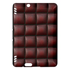 Red Cell Leather Retro Car Seat Textures Kindle Fire HDX Hardshell Case
