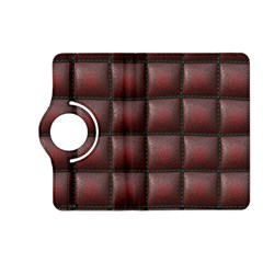 Red Cell Leather Retro Car Seat Textures Kindle Fire HD (2013) Flip 360 Case