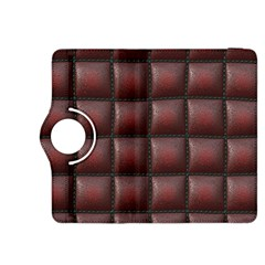 Red Cell Leather Retro Car Seat Textures Kindle Fire Hdx 8 9  Flip 360 Case