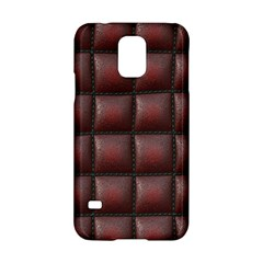 Red Cell Leather Retro Car Seat Textures Samsung Galaxy S5 Hardshell Case