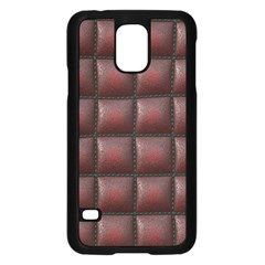 Red Cell Leather Retro Car Seat Textures Samsung Galaxy S5 Case (Black)