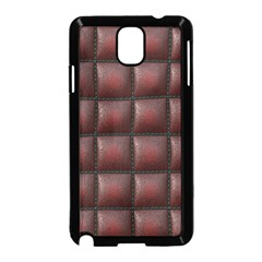 Red Cell Leather Retro Car Seat Textures Samsung Galaxy Note 3 Neo Hardshell Case (Black)