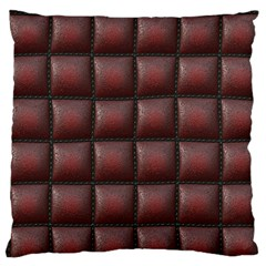Red Cell Leather Retro Car Seat Textures Large Flano Cushion Case (two Sides)