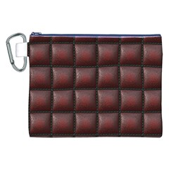 Red Cell Leather Retro Car Seat Textures Canvas Cosmetic Bag (XXL)