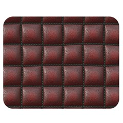 Red Cell Leather Retro Car Seat Textures Double Sided Flano Blanket (medium)