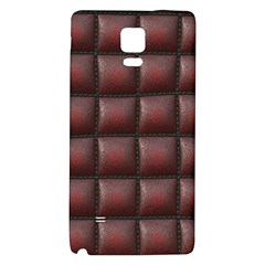 Red Cell Leather Retro Car Seat Textures Galaxy Note 4 Back Case
