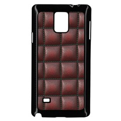 Red Cell Leather Retro Car Seat Textures Samsung Galaxy Note 4 Case (Black)