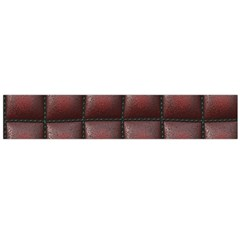 Red Cell Leather Retro Car Seat Textures Flano Scarf (Large)