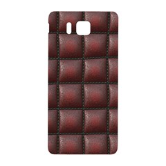 Red Cell Leather Retro Car Seat Textures Samsung Galaxy Alpha Hardshell Back Case