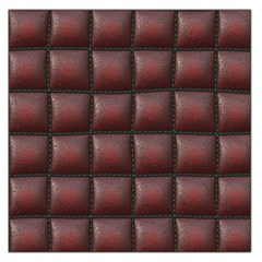 Red Cell Leather Retro Car Seat Textures Large Satin Scarf (Square)