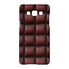 Red Cell Leather Retro Car Seat Textures Samsung Galaxy A5 Hardshell Case