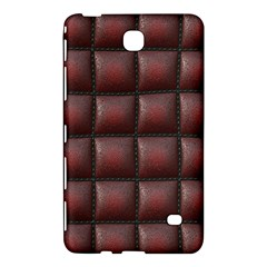 Red Cell Leather Retro Car Seat Textures Samsung Galaxy Tab 4 (7 ) Hardshell Case